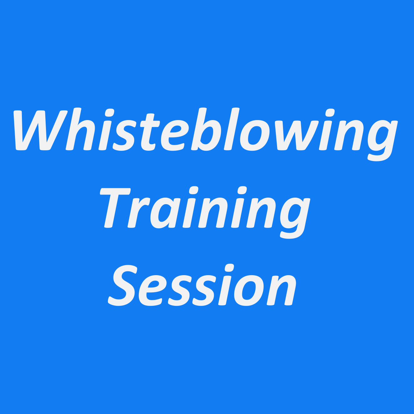 A 1-Day Whistleblowing Training Session (JHB)