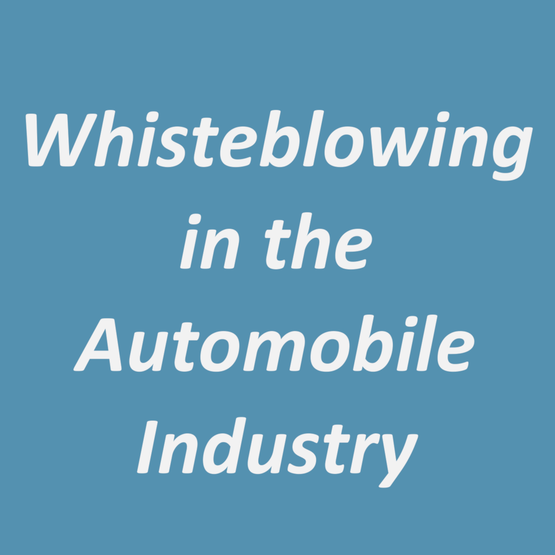 A 1-Day Whistleblowing in the Automobile Industry Sector Training Session (JHB)